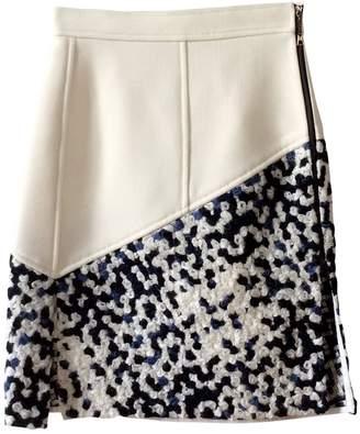Louis Vuitton Ecru Wool Skirt for Women