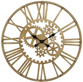UMA Enterprises Metal Gold Gear Wall Clock