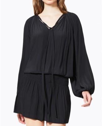 Ramy Brook Black Paris V Neck Dress - S - Black