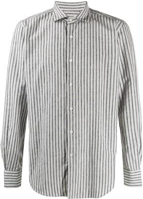 Glanshirt striped button up shirt