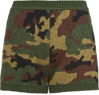 Miu Miu knitted camouflage shorts
