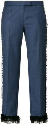 Marco De Vincenzo frill trim cropped trousers