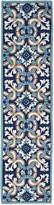 Liora Manné Ravella Floral Tile Indoor/Outdoor Hand-Hooked Runner