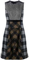 Etro checked patchwork dress