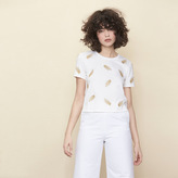 Maje Embroidered jersey T-shirt