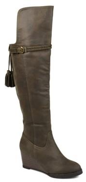 Journee Collection Jezebel Wide Calf Over The Knee Wedge Boot