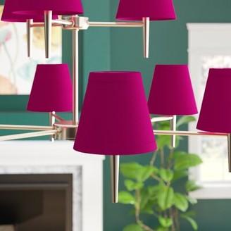 """Symple Stuff 5"""" Cotton Empire Candelabra Shade Color: Fuchsia"""