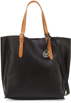 Linea Pelle East-West Buckle Tote Bag, Black