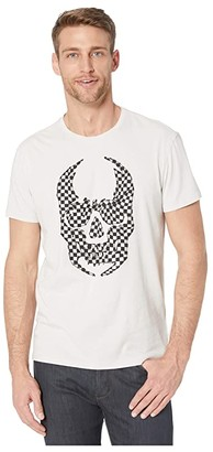 John Varvatos Applique Skull Crew Tee KG4937W1B (Zinc) Men's Clothing