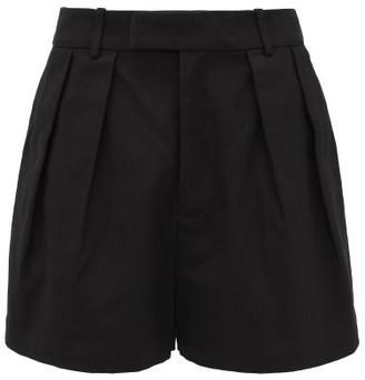 Sir - Sabine High-rise Cotton-twill Shorts - Black