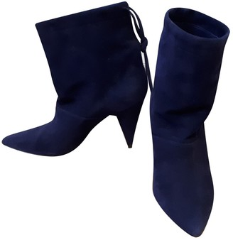 Pierre Hardy \N Blue Suede Ankle boots