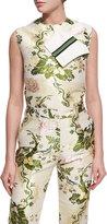 Calvin Klein Flora Brocade Shell Top