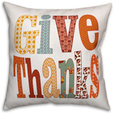 Ddcg Give Thanks 16x16 Spun Poly Pillow Cover