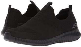Skechers Elite Flex - Wasik (Black) Men's Slip on Shoes