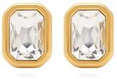 Balenciaga Dallas Crystal Clip Earrings - Womens - Gold