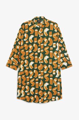 Monki Oversized shirt dress