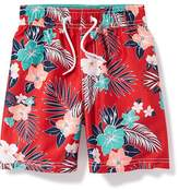 Old Navy Hibiscus-Print Swim Trunks for Toddler