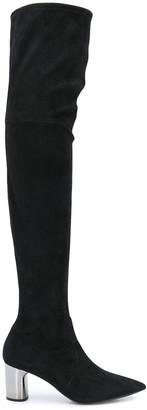 Casadei Over-The-Knee Metallic Heel Boots