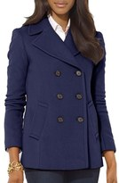 Lauren Ralph Lauren Women's Double Breasted Wool Blend Peacoat