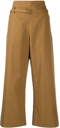 Marni High-Rise Flared Cropped Trousers