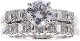 JCPenney FINE JEWELRY DiamonArt Cubic Zirconia Sterling Silver Bridal Ring Set
