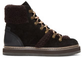 See by Chloe Black Shearling Eileen Boots