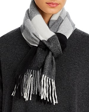 C by Bloomingdale's Cashmere Plaid Scarf - 100% Exclusive