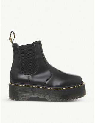 Dr. Martens 2976 platform leather Chelsea boots