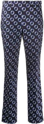 Incotex Geometric-Print Cropped Trousers