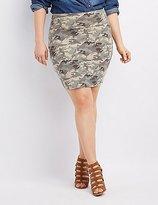 Charlotte Russe Plus Size Camo Bodycon Mini Skirt