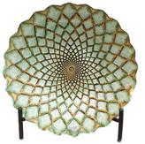 EC World Imports Casa Cortes Hand-Painted Artisan Glass Decorative Plate