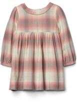 Gap Picot trim plaid dress