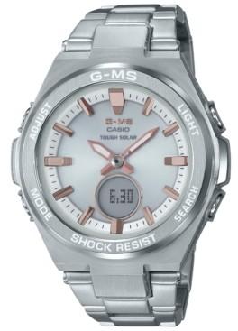 G-Shock G-ms Women's Solar Analog-Digital Stainless Steel Bracelet Watch 38.4mm