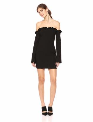 LIKELY Women's Rumi Strapless Ruffle Trim Mini Dress