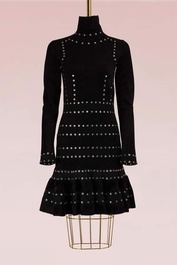 Alexander McQueen Turtleneck Mini Dress