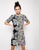 Asos Contrast Print T-Shirt Dress