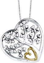 FINE JEWELRY Inspired Moments Sterling Silver Family Tree/Heart Pendant Necklace