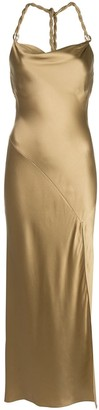 Nicholas Metallic Halterneck Dress