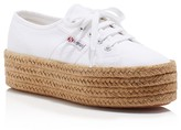 Superga Cotropew Lace Up Espadrille Platform Sneakers
