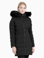 Calvin Klein Down Faux Fur Hooded Walker Jacket