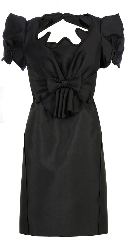 Zac Posen Reglisse silk dress