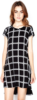 Michael Lauren Lucky Dress with Side Slit in Black Loom