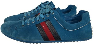 Gucci \N Turquoise Suede Trainers