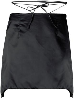 Helmut Lang Tie-Waist Mini Skirt