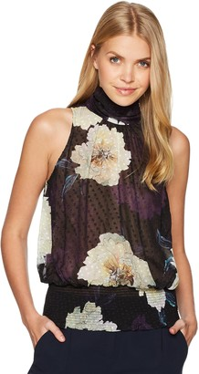 Tracy Reese Women's Smocked Halter in Large Blossom