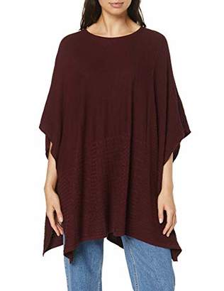Esprit edc by Women's 096CC1I037 Jumper, Red (BORDEAUX RED), (Manufacturer size: Small)