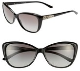Versace Women's 'Rock Icons - Greca' 57Mm Butterfly Sunglasses - Black