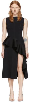Off-White Black Sleeveless Ruffle Dress