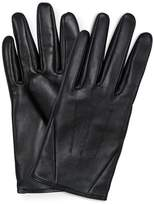 Oliver Bonas Black Leather Gloves