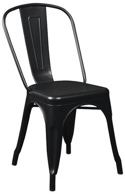 Euro Style Corsair Armless Stackable Chair Eurostyle Seat Finish: Black